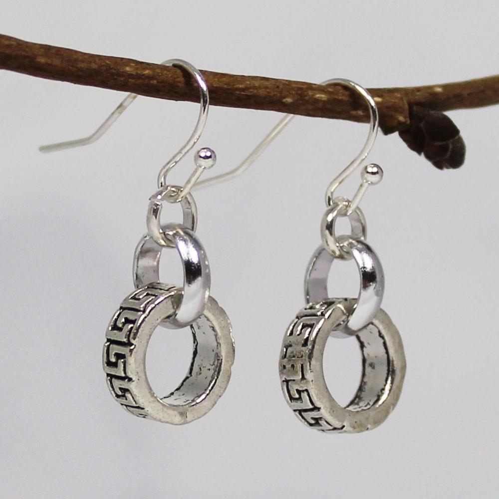 oorbellen hanger rondel ringen small
