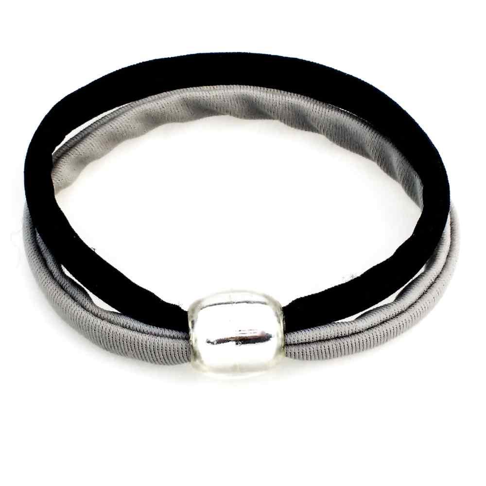 armband stretch zwart grijs double