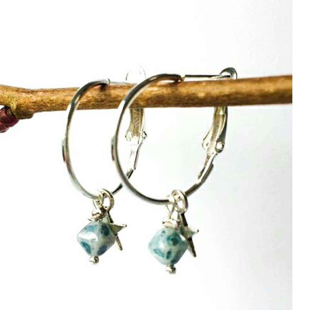 oorbellen creolen blauw ster
