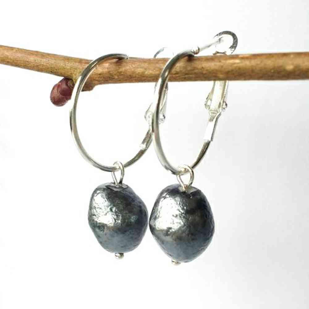 oorbellen zilver ringen parels groot