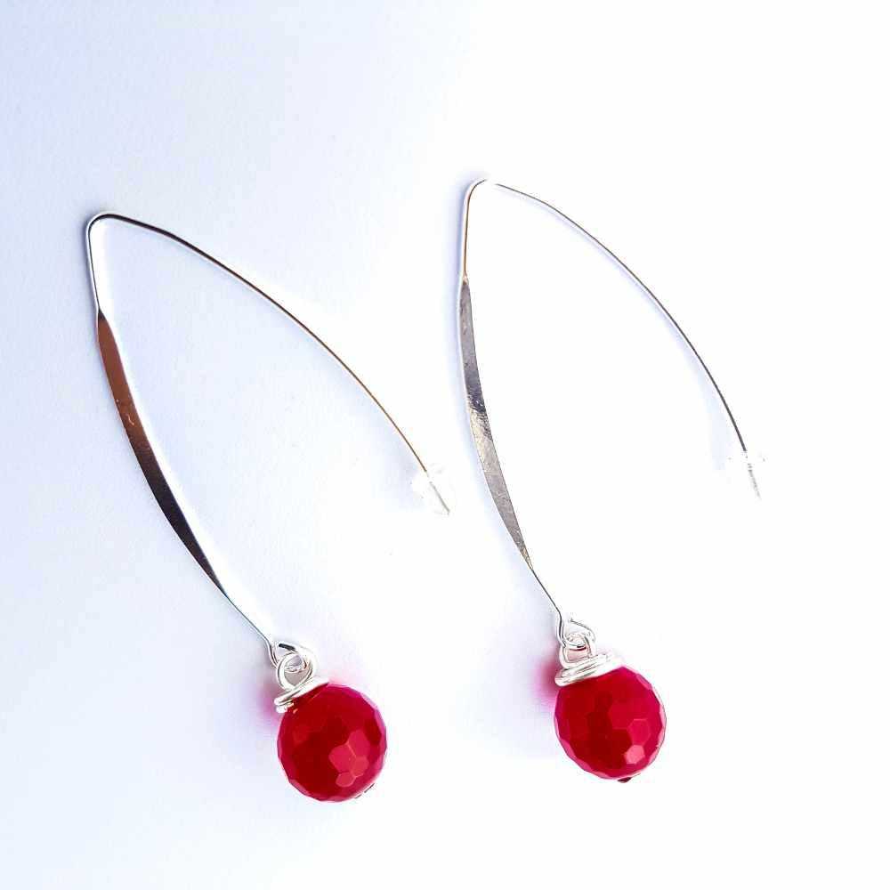 handgemaakte oorbellen atelier zilver rood
