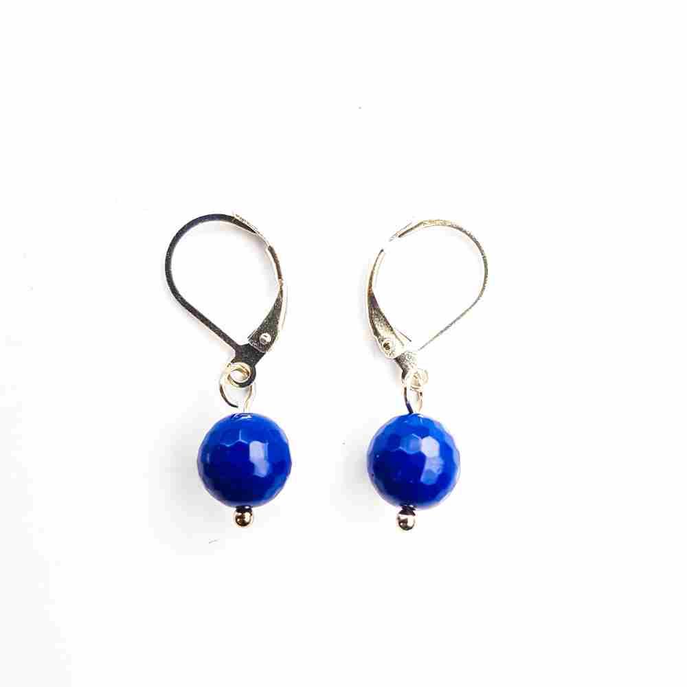 oorbellen bolletje blauw