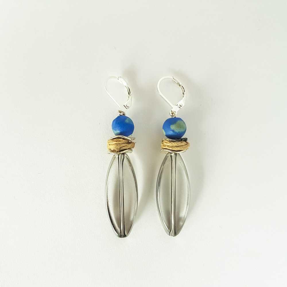 oorbellen hangers blauw kristal