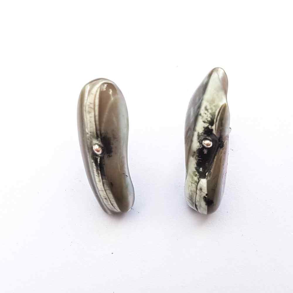 oorbellen parels zilver grijs