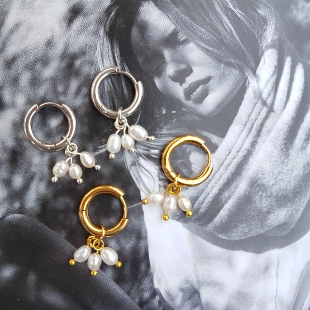 creolen goud zilver pareltjes
