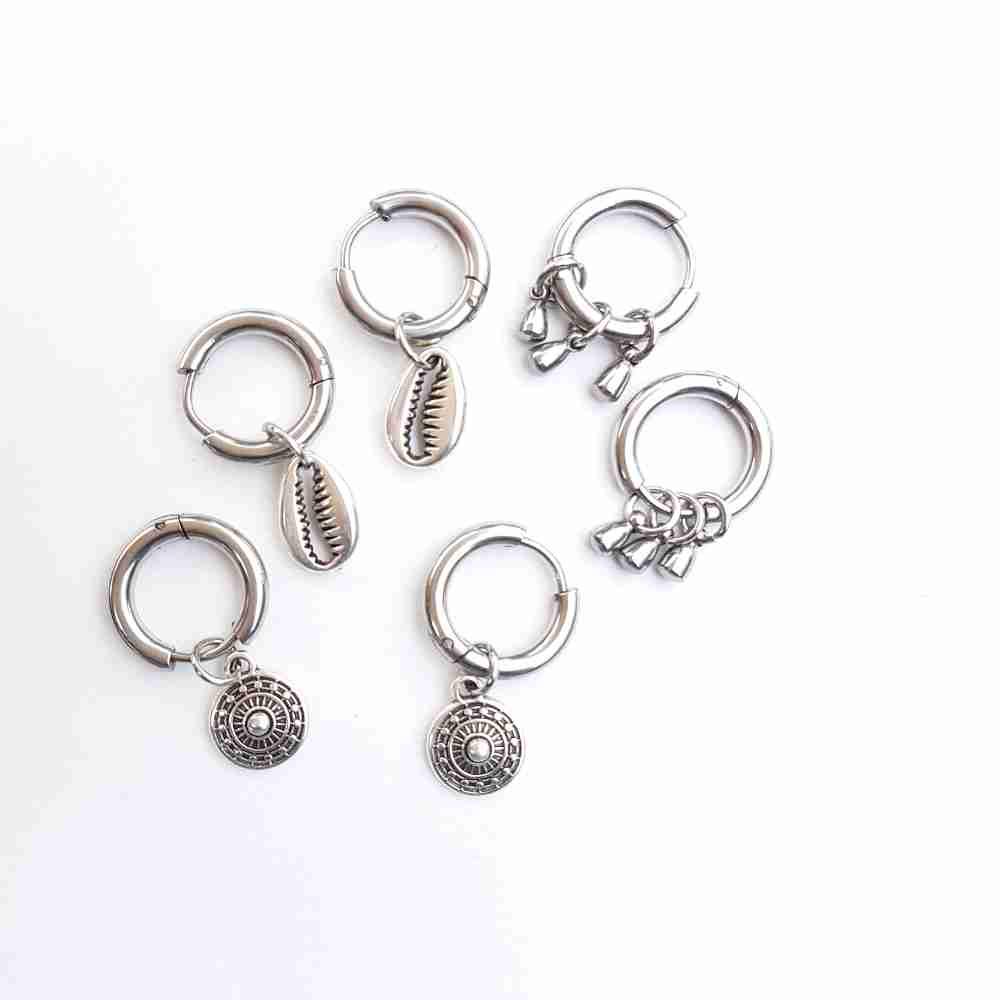 oorbellen zilver ringen bedel