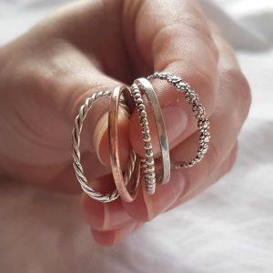 aanschuifringen zilver ring smal