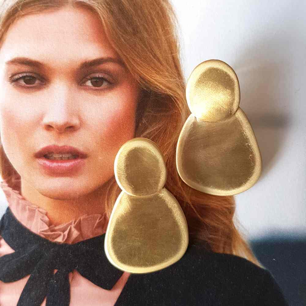oorbellen goud mat groot