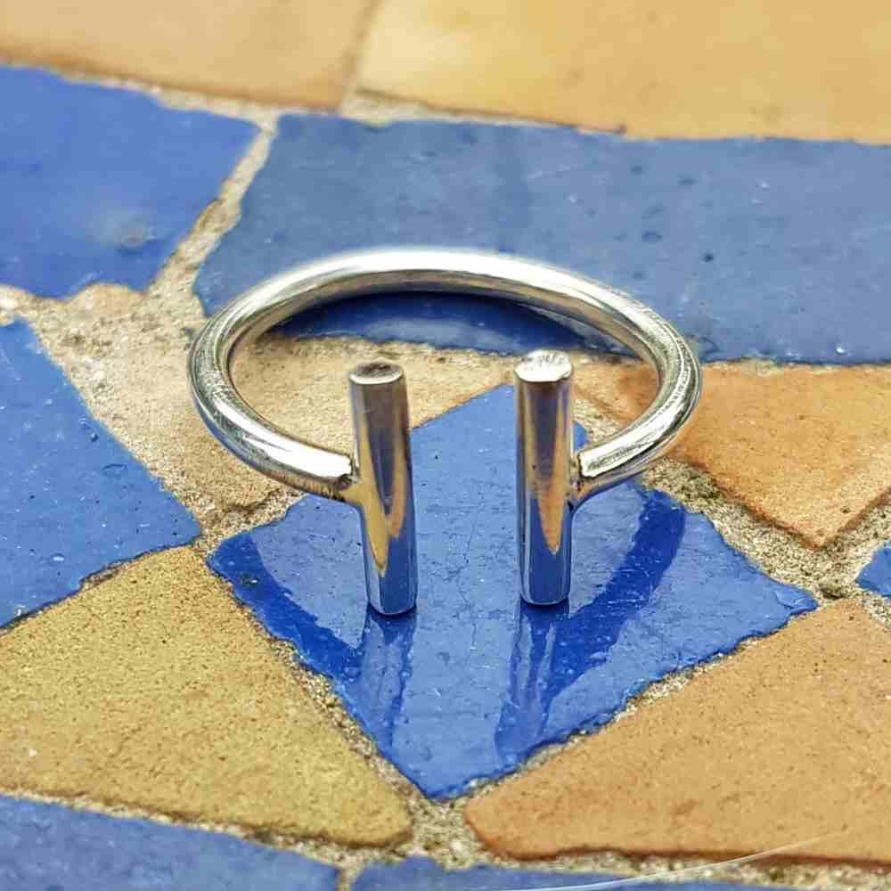 ring zilver verstelbaar minimalistisch